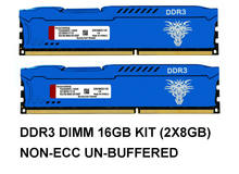 Blue DDR3 RAM 8GB 1600MHZ 1866MHZ 240Pin CL11 DIMMPC3-12800 PC Desktop RAM Memory 1.5V Computer parts memoria