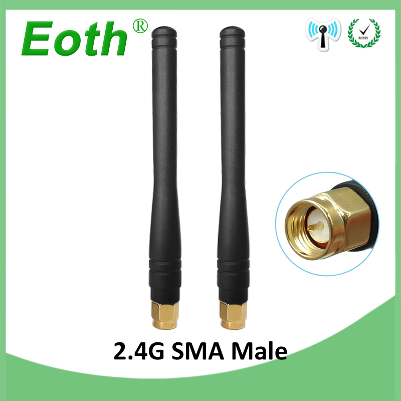 2pcs 2.4GHz Antenna WIFI SMA Male Connector 3dbi Aerial 2.4 Ghz Antena Wi Fi 2.4G Antenne For Wireless Wi-fi Router Antenas