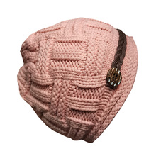 Women's wool hat autumn and winter knitting hat girl's pink hat small head woman's hat lovely sweet warm hat tide leisure time hats lovely student winter keep warm knitting wool hat winter woman wool knitting hat
