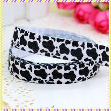Headband Fold-Over Elastic Cow-Printed Diy-Decoration 5yards Wholesale DHK FOE OEM E424