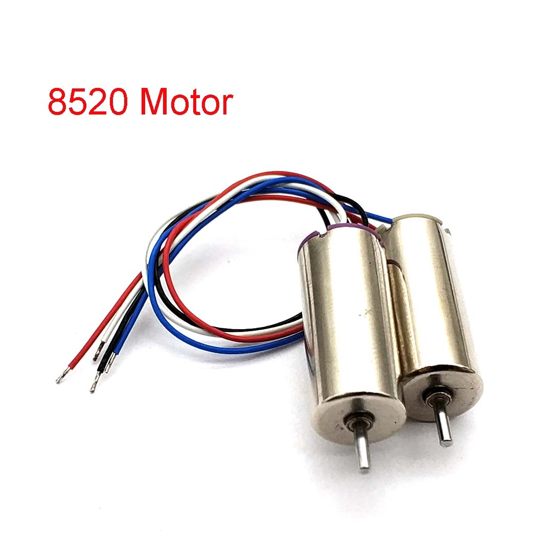 1pair 8520 Coreless Motor 4.2V 58000RPM High Speed Motors For RC Model Airplane Large Power Hollow Cup Motor Shaft Dia 1.1mm