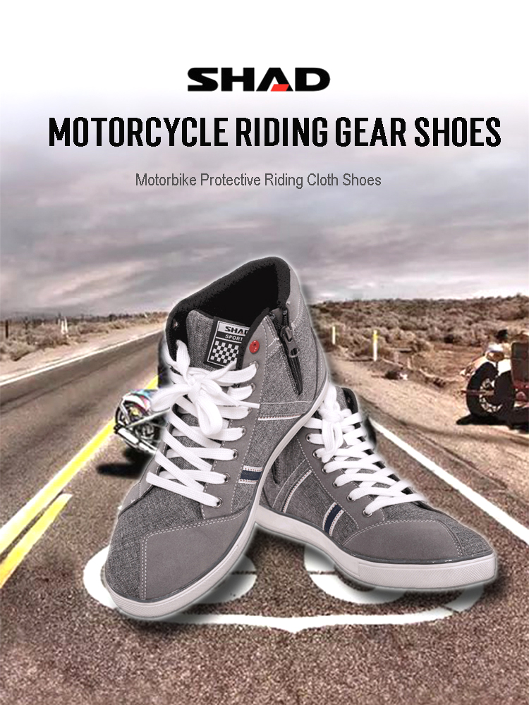 Casual Breathable Powersports Shoes Black, 11 BORLENI Motorcycle Riding Shoes Road Street Motocross Protective Boots for Men