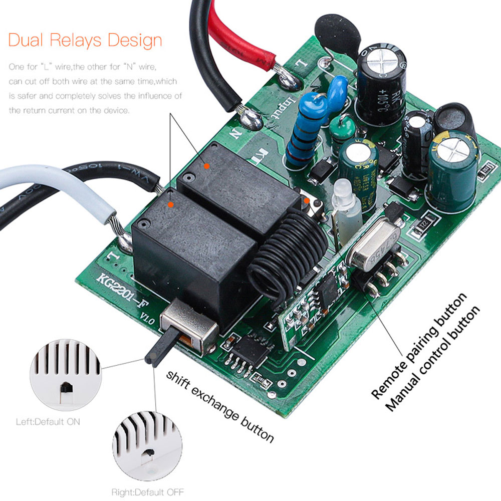 433Mhz 90-250V wall touch sensor switch, general standard lighting switch, crystal glass switching power supply, 1 way switch
