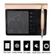 """מגע מסך נטענת סוללה ארה""""ב/האיחוד האירופי Plug איפור קבוע מכונת ערכת גבות שפתיים אייליינר מכונת עם 2 מחסנית Neeldes"""