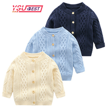 New Cardigan Baby Sweater Knitted Boys Girls Toddler Solid Sweater Handmade Infant Single Breasted Cardigan Kids Newborn Clothes