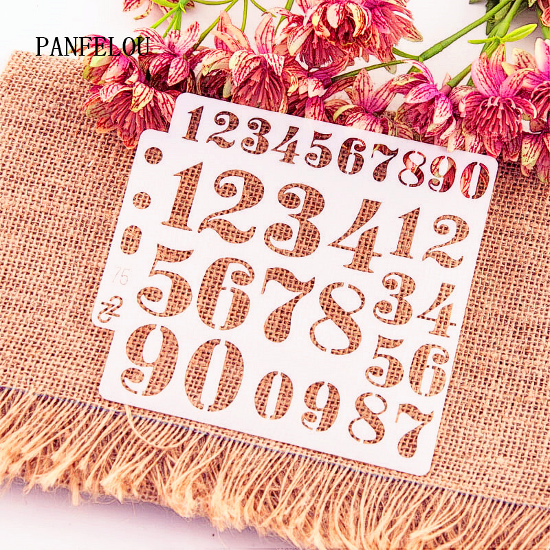 Digital Text Scrapbook Stencils Spray Plastic Mold Shield DIY Cake Hollow Embellishment Printing Lace Ruler Valentine