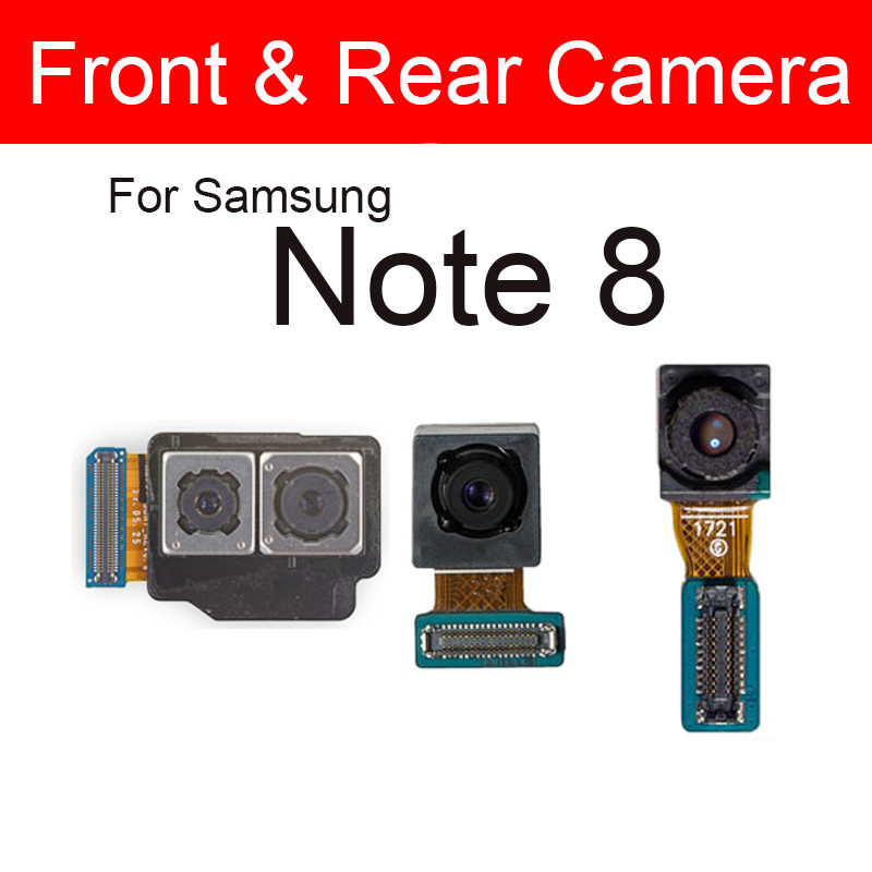 Front & Rear Back Camera For Samsung Galaxy Note 8 Note8 N950F N950U Small Facing Main Back Big Camera Replacement Repair Parts