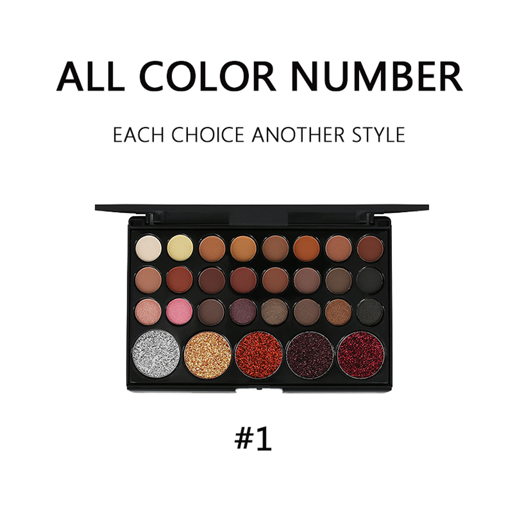 29 Colors Eye Shadow Disc Sequins Diamond Earth Color Flashing Powder Sparkling Stage Shining Powder