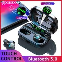 Fones de ouvido ipx7  fones de ouvido  bluetooth  a prova d' água  8d  estéreo  sem fio  com carregador 3500mah  g6s  tws  bluetooth 5.0
