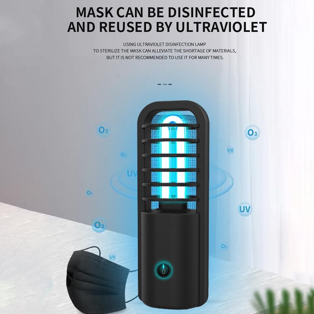 360 Degrees UV Ultraviolet Lamp Germicidal Disinfection Light Bulb Ozone Quartz UV Led Light For Home Clean Air Kill Mites USB