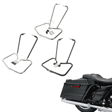 Motorcycle Saddlebag Bracket Guard W/ Support Bar For Harley Touring Electra Glide Street Road King 1997-2008