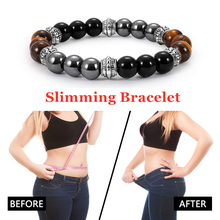 Bracelet Slimming Natural Magnetic Hematite Stone Weight Loss Fat Burning Anti Cellulite Man Woman T