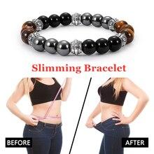 Bracelet Slimming Natural Magnetic Hematite Stone Weight Los