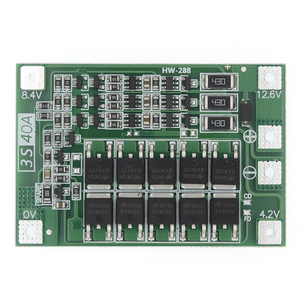 Image 1 - 3S 40A Li ion cargador de batería de litio Módulo de célula Lipo PCB Placa de protección BMS para Motor de taladro 12,6 V con Balance