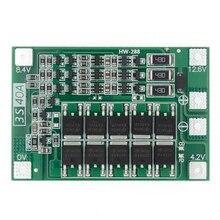 Модуль защиты PCB BMS 3S 40А, защитная плата зарядника литий ионных и литий полимерных батарей для двигателя перфоратора, 12,6 В, с балансиром