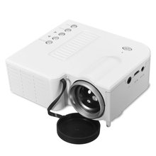 EU Plug Mini Portable LED Projector 1080P Multimedia Family Cinema Home Theater USB TF Card Input Beamer For PC Laptop