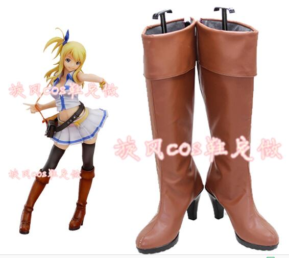 Fairy Tail Lucy Heartfilia Spirit Cosplay Shoes Women Boots