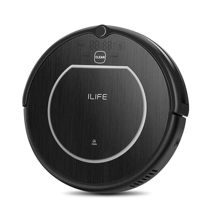 ILIFE V55 Pro Vacuum Cleaner Robot Sweep & Wet Mop Virtual Wall Planned Cleaning Powerful Suction for pet hair and hard floor - 4