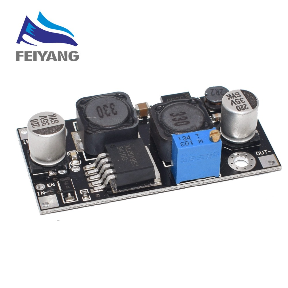 Xl6019 (xl6009 atualizar) passo-up automático step-down dc conversor ajustável módulo de fonte de alimentação 20w 5-32v a 1.3-35v (hei)