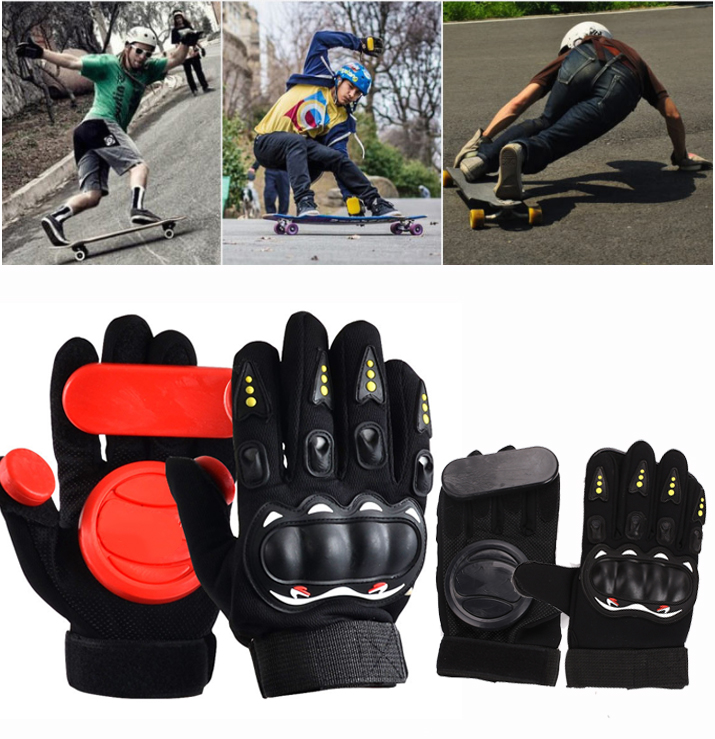 1pair Skateboard/Longboard Sliding FreeRide Gloves Replacement Palm Pucks Skateboard Gloves