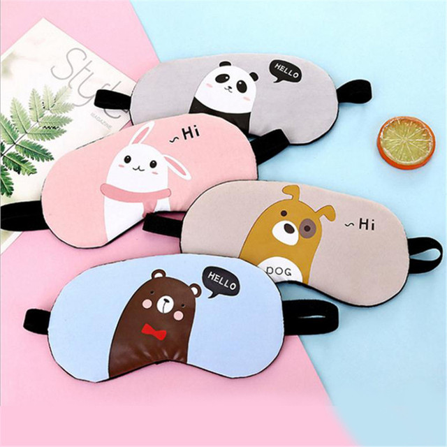 1PC New Fashion Portable Cute Sleeping Eye Mask Korean Style Soft Padded Sleep Travel Shade Cover Rest Relax Sleeping Blindfold 1