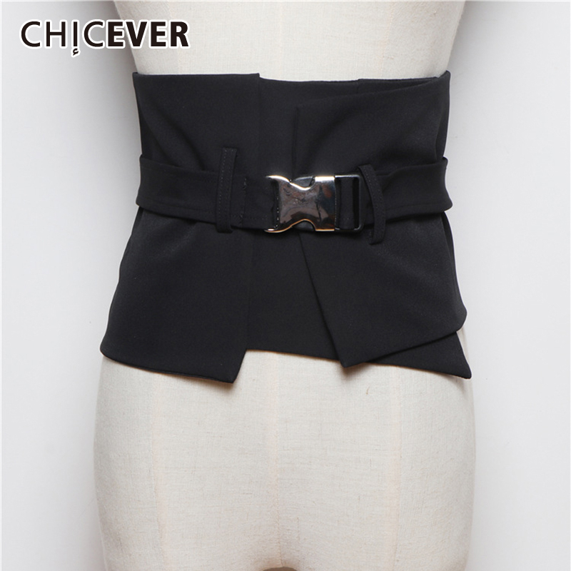 CHICEVER Korean Pleated Ruffle Belt Woman Tunic Lace Up Female Belts Adjustable Summer Spring Fashion Clothing Accessories 2020