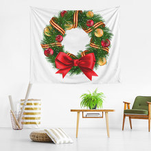 YIANSHU Variety Of Christmas Tree Tapestry Tarpaulin Hot Sale Decorative Series Digital Printing