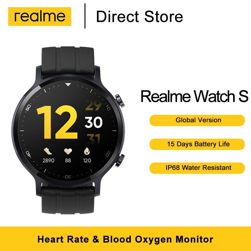 Умные часы глобальная версия Realme, 1,3 дюйма, пульсометр, оксиметр в крови, 15 дней автономной работы, водостойкость IP68