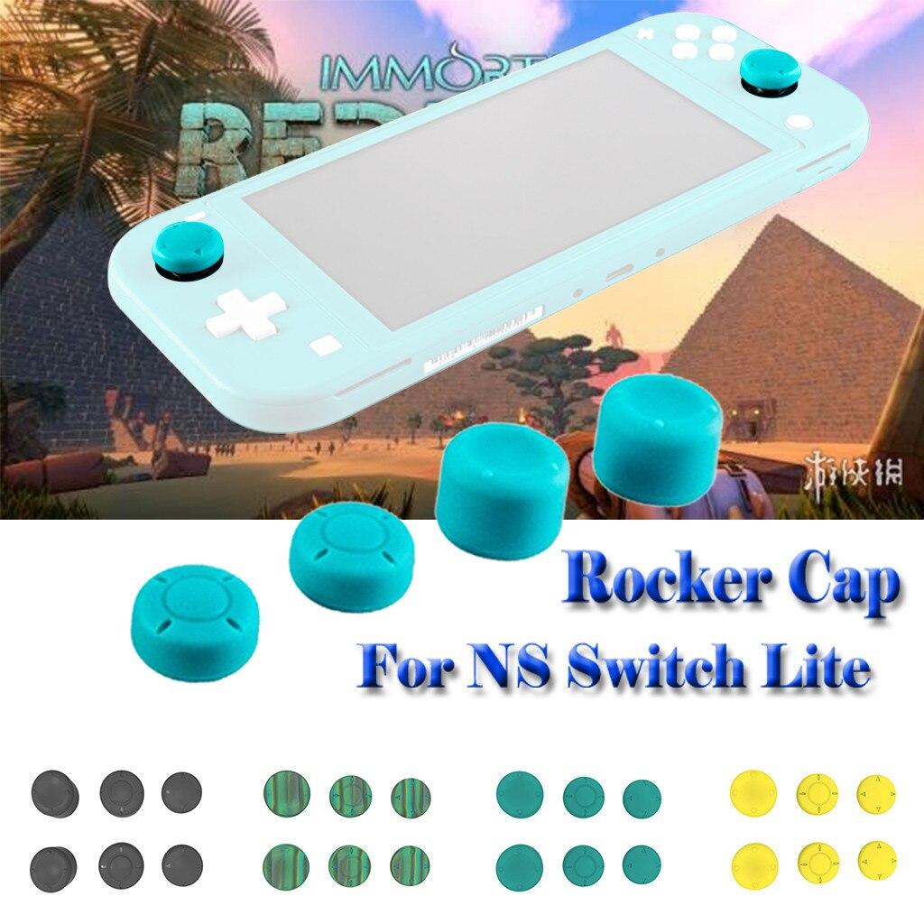 6 шт. ручка крышка для защиты от скольжения силиконовая крышка для NS Switch Lite Кнопка крышка s для nintendo Switch Lite Joy Con Thumbst