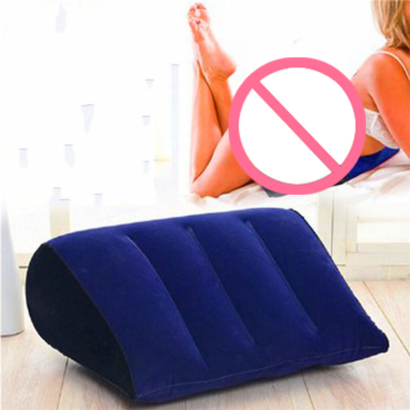 Inflatable Sex Love Pillow Aid Wedge Body Position Support Cushion Sexy Erotic Adults Magic Games Toys Couples Pillows for Women image