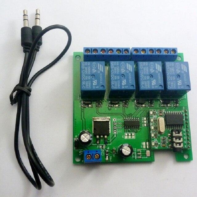 CE023 DC 12V DTMF MT8870 電話音声デコーダ制御モメンタリトグルラッチ遅延タイマー多機能リレーモジュール