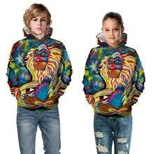 Cute Boys Girls Hoodies Children Fashion Cartoon Printing Sweatshirts Kids Unisex Tops Clothes