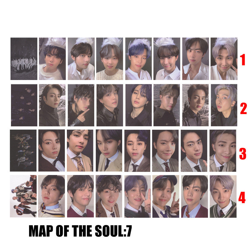 1 шт. Kpop Bangtan Boys новый альбом карта души 7 JK V RM JIN SUGA JHOPE JIMIN Фотокарта постер Lomo Card Fans коллекция
