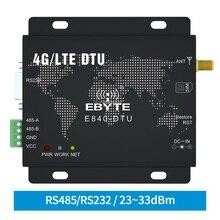4G LTE RS232 RS485 모듈 Modbus RTU TCP LTE FDD WCDMA GSM ebyte E840 DTU(4G 02E) 무선 투명 트랜시버 모뎀