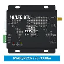 4G LTE RS232 RS485 وحدة Modbus RTU TCP LTE FDD WCDMA GSM ebyte E840 DTU(4G 02E) جهاز إرسال واستقبال لاسلكي شفاف مودم