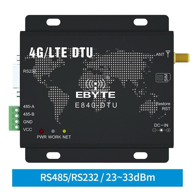 4G LTE RS232 RS485 Module Modbus RTU TCP LTE-FDD WCDMA GSM Ebyte E840-DTU(4G-02E)  Wireless Transparent Transceiver Modem