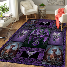 Dragon 3D Printed Carpet Mat for Living Room Doormat Flannel Print Bedroom Non-slip Floor Rug