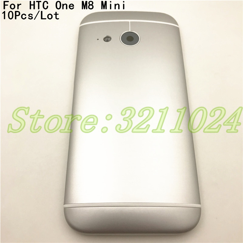 10Pcs Original Metal Housing For <font><b>HTC</b></font> One <font><b>M8</b></font> Mini 2 Back <font><b>Battery</b></font> Cover Housing <font><b>Case</b></font> with Volume Power Button Camera Lens +Logo image