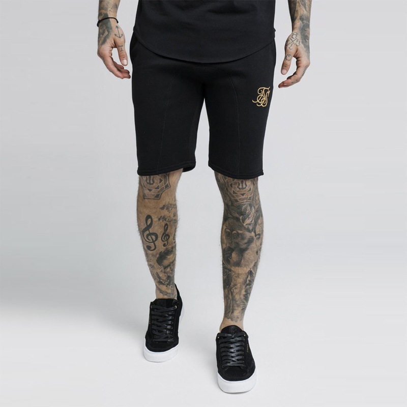 Summer Shorts Men Sik Silk 2020 Casual Shorts Trunks Fitness Shorts Man Breathable Cotton Gym Siksilk Short Trousers