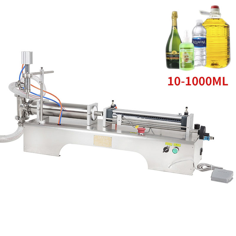 10-1000ML Electric Pneumatic Single Head Liquid Filling Machine Shampoo Gel Water Wine Milk Coffee Beverage Filling Machine