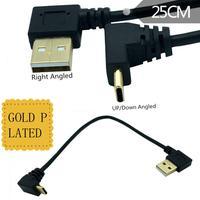 Gold-überzogene Typ-C 90-grad ellenbogen daten kabel LeTV 1S ladekabel USBAM rechts- drehen 90-drehen kabel