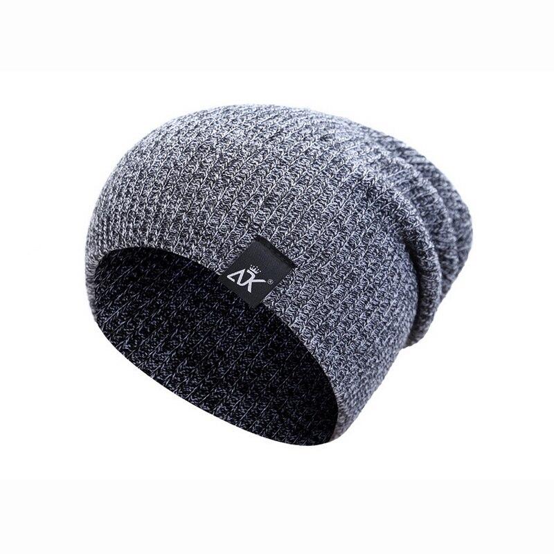 2020 Men Women Fashion Striped Squirt Head Cap Warm Unisex Solid Color Wool Cap 28cmx18cm Outdoor Knit Hat Autumn Winter