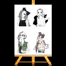 ZhuoAng Fashion girl Clear Stamps/Card Making Holiday decorations For  scrapbooking Transparent stamps 13*13cm