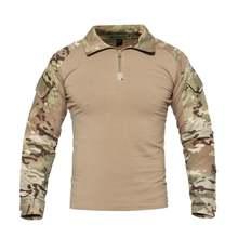 Мужская тактическая футболка военная Боевая для солдат футболки