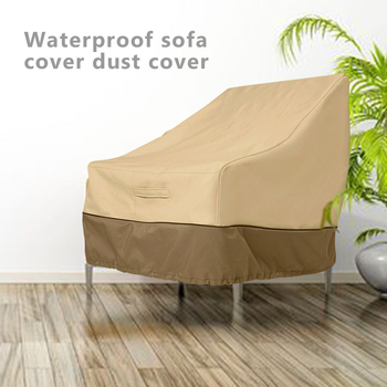 Waterproof Dust-proof Furniture Cover Patio Chair Cover Lounge Deep Seat Cover Outdoor Lawn Oxford Cloth Adjustable Sofa Cover image