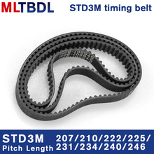 Timing-Belt Synchronous-Belt Rubbetoothed-Belt Closed-Loop 3M STD Pitch 240/246mm 6/9/10/15mm-width