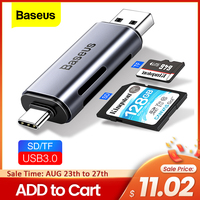 Baseus 2 in 1 lettore di Schede USB 3.0 e USB di Tipo C a SD Micro di DEVIAZIONE STANDARD TF del lettore di Schede di OTG adattatore Intelligente di Memoria Microsd Lettore di Schede Per iPad