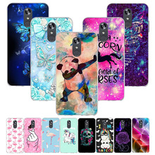 For LG Q Stylo 4 Case Silicon Full Flower Painting Soft TPU