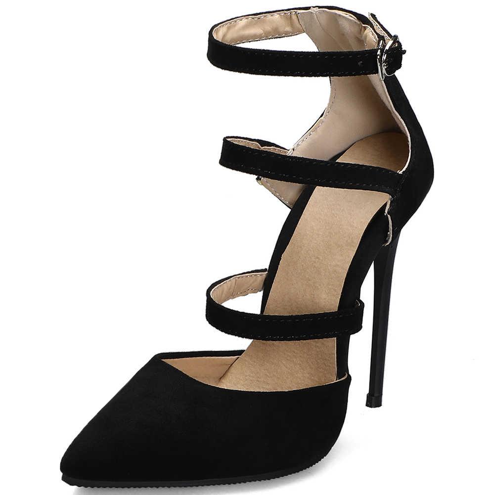KARINLUNA seksi kadın 2020 düğün gelin pompaları ince topuk fermuar sivri burun yüksek topuk pompaları kadın yaz ayakkabı kadın