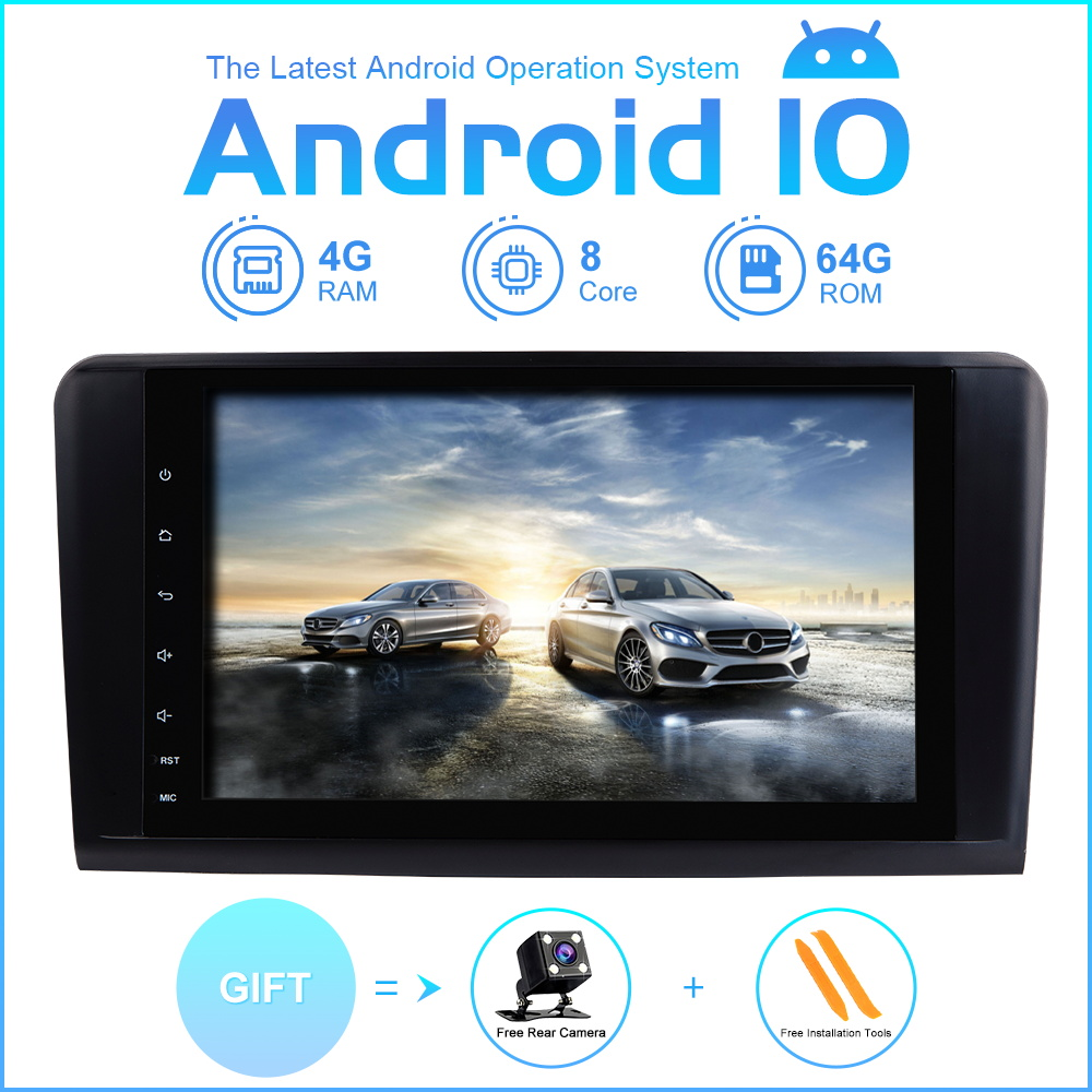 ZLTOOPAI Car Radio Multimedia Player <font><b>GPS</b></font> <font><b>2</b></font> <font><b>Din</b></font> <font><b>Android</b></font> 10 For Mercedes-Benz GL ML CLASS W164 X164 ML350 ML450 ML500 GL320 GL450 image